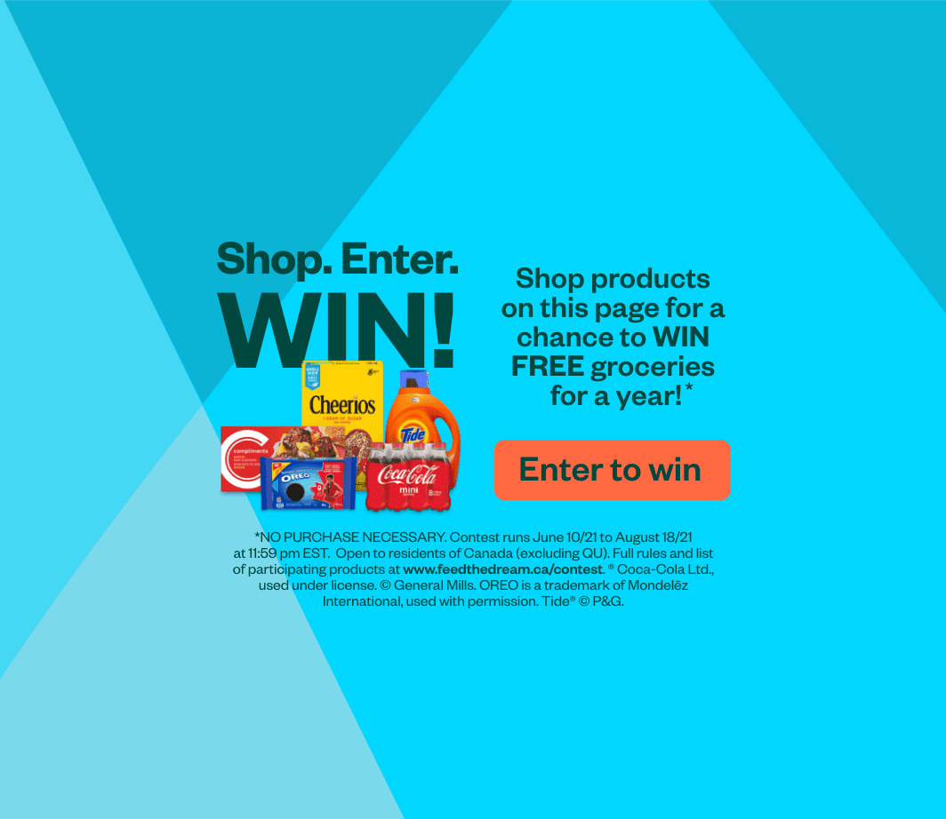 Enter to win FREE groceries for a year!