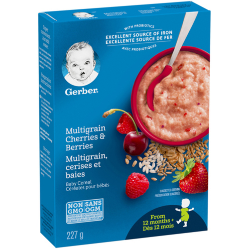 Gerber Stage 4 Toddler Cereal Multigrain, Cherries & Berries 227 g