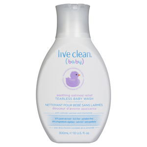 Live Clean Baby Soothing Relief Wash 300 ml