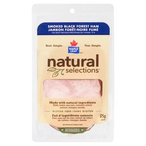 Maple Leaf Natural Selections Shaved Smoked Black Forest Ham 175 g