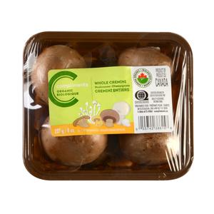 Compliments Organic Whole Cremini Mushrooms 227 g