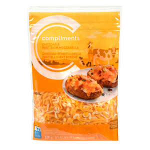 Compliments Cheddar And Mozzarella Shredded Cheese 320 g