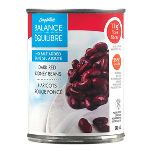 Compliments Balance Dark Red Kidney Beans No Salt Added 540 ml