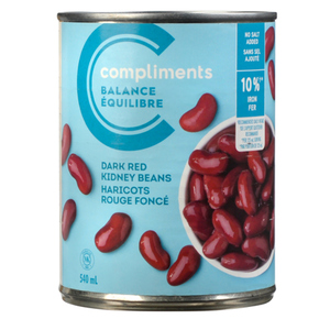 Compliments Balance Dark Red Kidney Beans No Salt Added 540 ml
