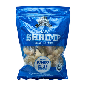 Farm Boy Raw Jumbo Shrimp 21-27 Count 340 g