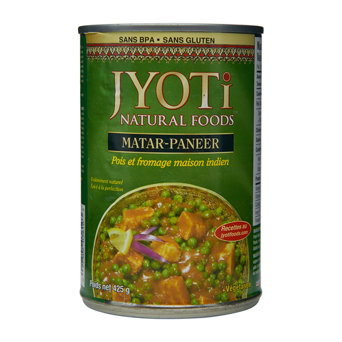 Jyoti Natural Foods Indian Matar Paneer 425 g