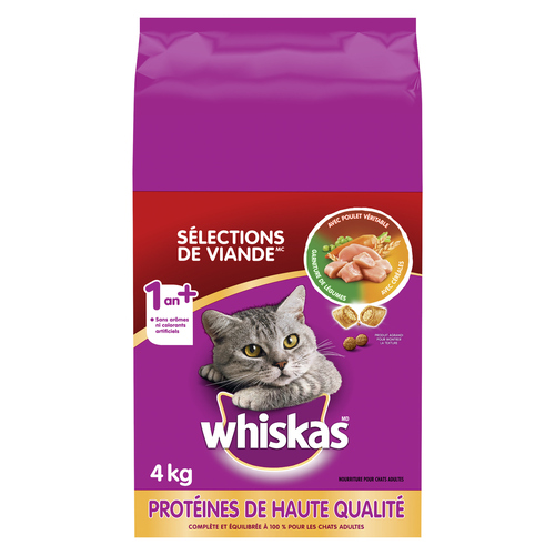 Whiskas Meaty Selections Real Chicken Cat Food 4 kg