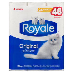 Royale Bathroom Tissue 2 Ply 253 Sheets 24 Double Rolls