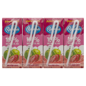 Rubicon Guava & Apple Exotic No Sugar Added Juice Drinks 4 x 200 ml