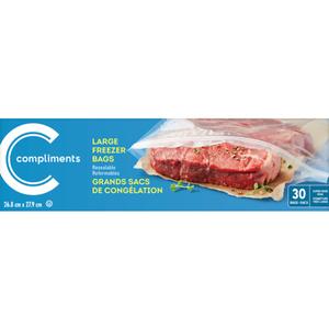 Compliments Freezer Bags Large 30 EA