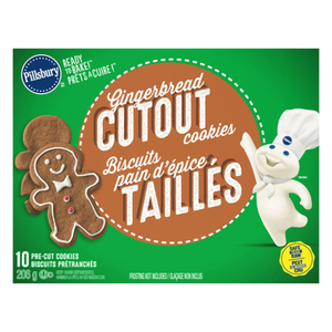 Pillsbury Gingerbread Refrigerated Baked Goods 10 Count Cookies 206 g