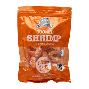 Farm Boy Cooked Jumbo Shrimp 31-40 Count 340 g