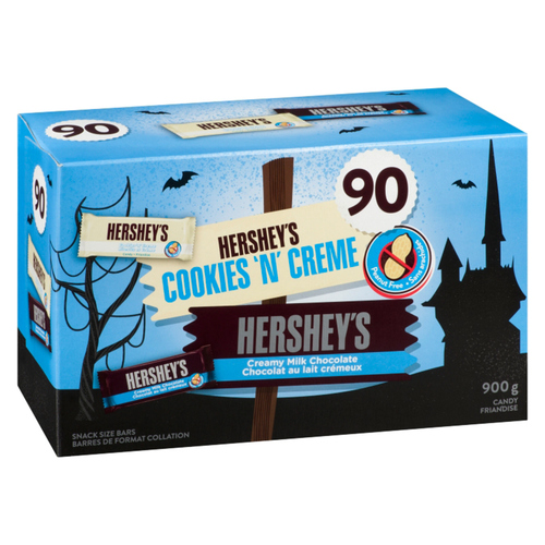 Hershey's Assorted Chocolate Bars Snack Size Halloween Candy 90 EA 900 g