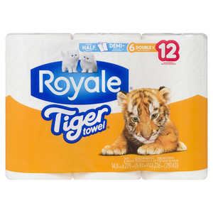Royale Tiger Towels Paper Towels 2-Ply 110 Sheets 6 Rolls