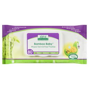 Aleva Naturals Bamboo Baby Wipes 80 Sheets