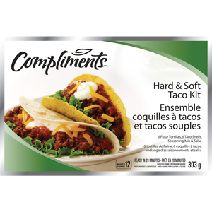 Compliments Hard And Soft Taco Kit 393 g