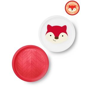 Skip Hop Zoo Smart Serve Non-Slip Plate Set Fox 2 EA