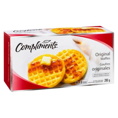 Compliments Original Waffles 8 Pack 280 g