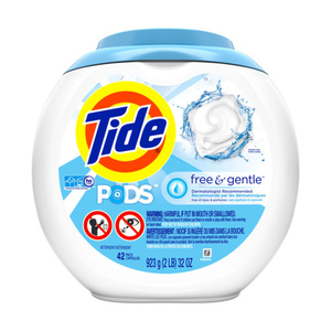 Tide Pods Laundry Detergent Free & Gentle 42 Pods 923 g