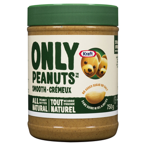 Kraft Only Peanuts All Natural Smooth Peanut Butter 750 g