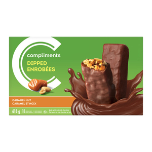 Compliments Granola Bars Caramel Nut Dipped 18 Bars 618 g