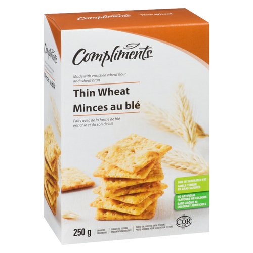 Compliments Wheat Thins Crackers 250 g