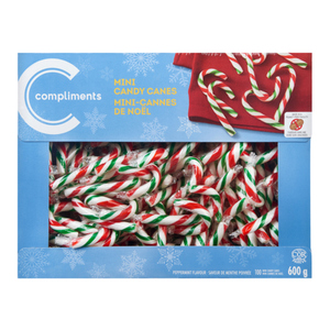 Compliments Mini Candy Canes Peppermint 600 g