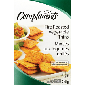 Compliments Fire Roasted Vegetable Crackers 250 g