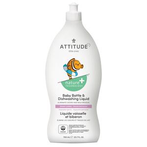 Attitude Nature+ Little Ones Baby Bottle & Dishwashing Liquid Sweet Lullaby 700 ml