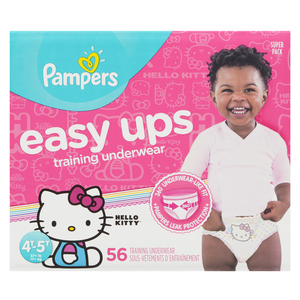 Pampers 4T 5T Super Girl Easy Up Training Pants 56 EA