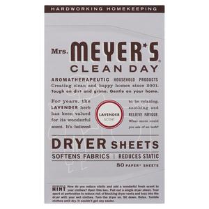 Mrs. Meyer's Clean Day Dryer Sheets Lavender 80 EA