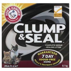 Arm & Hammer Multi-Cat Clump & Seal Cat Litter 9.1 kg