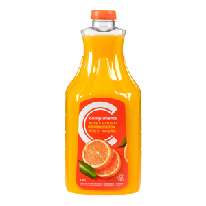 Compliments Orange Juice No Pulp Not From Concentrate 1.65 L