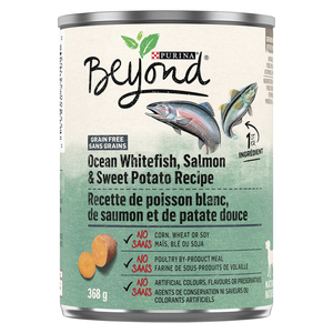 Purina Beyond Grain Free Ocean Whitefish, Salmon & Sweet Potato Dog Food 368 g