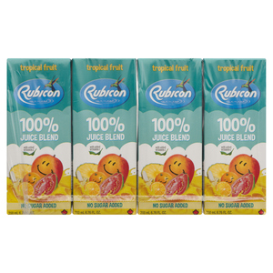 Rubicon Tropical Fruit Exotic No Sugar Added Juice Drinks 4 x 200 ml