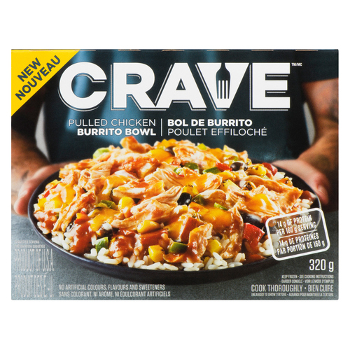 Voila By Sobeys Online Grocery Delivery Crave Frozen Meals Pulled Chicken Burrito Bowl 320 G