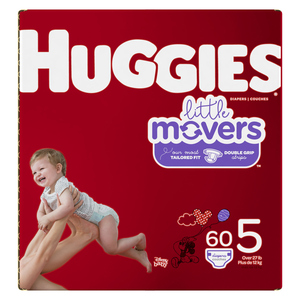 Huggies Little Movers Size 5 Diapers 60 EA