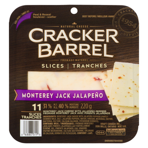 Cracker Barrel Montery Jack With Jalapeno Cheese Slices 220 g