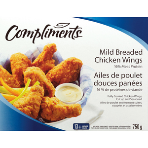 Compliments Mild Breaded Chicken Wings 750g