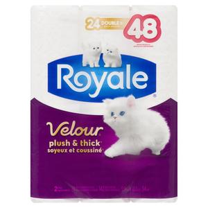 Royale Velour Bathroom Tissue 142 Sheet 24 Rolls
