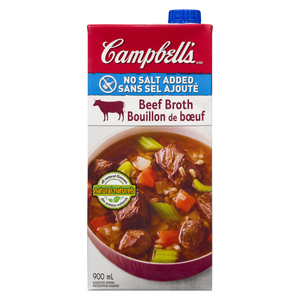 Campbell's Beef Broth No Salt Added 900 ml