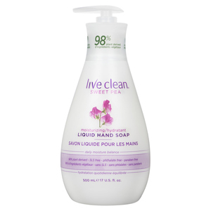 Live Clean Moisturizing Liquid Hand Soap Sweet Pea 500 ml
