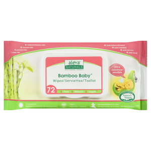 Aleva Naturals Bamboo Sensitive Baby Wipes 72 Sheets
