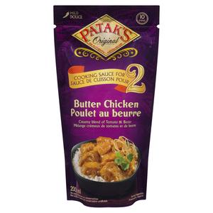 Pataks Sauce For 2 Butter Chkn 200 ml