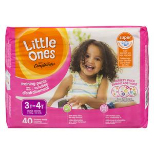 Compliments Little Ones Girls 3T-4T Mega Training Pants 40 EA