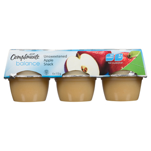 Compliments Balance Unsweetened Apple Snack Cups 6 x 113 g