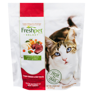 Freshpet Select Roasted Meals Cat Food Tender Chicken & Beef 450 g