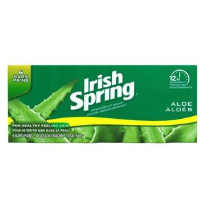 Irish Spring Deodorant Soap Aloe 6 x 90 g