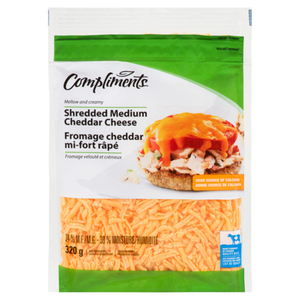 Compliments Cheddar Shredded Cheese 320 g