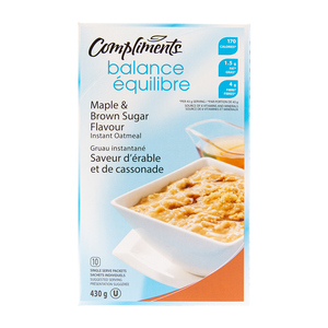 Compliments Balance Maple & Brown Sugar Oatmeal 430 g